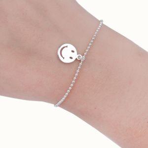 Jewelry - Silver Smiley Face Emoji Round Charm Bracelet